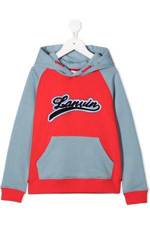 Lanvin Logo colour-block hoodie