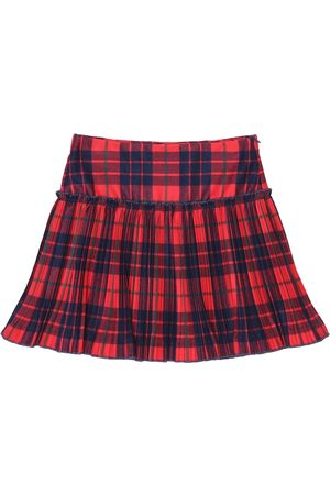 Il gufo Checked stretch-twill skirt