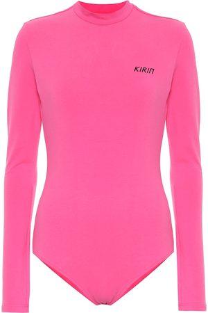 Kirin Logo stretch-cotton bodysuit