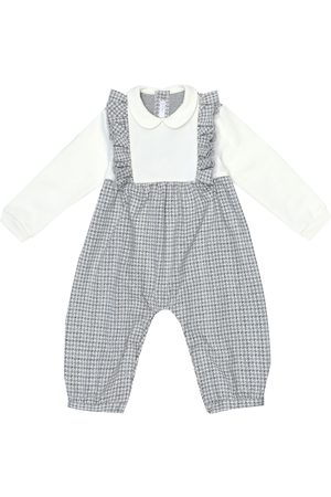 Il gufo Baby checked cotton onesie