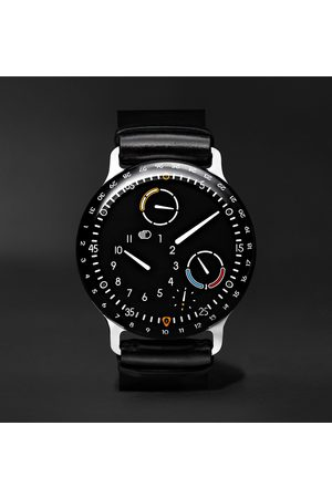 Ressence Men Watches - Type 3 Automatic 44mm Titanium and Leather Watch