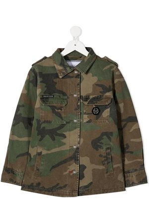 Philipp Plein Teddy Bear camouflage jacket