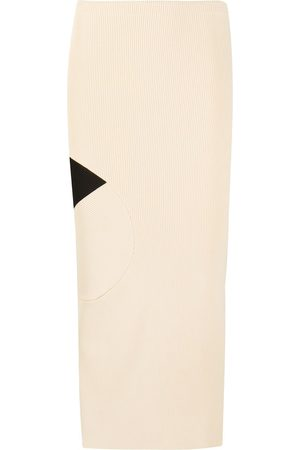 OFF-WHITE FRONT N BACK SKIRT BEIGE BLACK