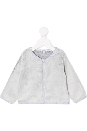 ABSORBA Button-up round neck cardigan
