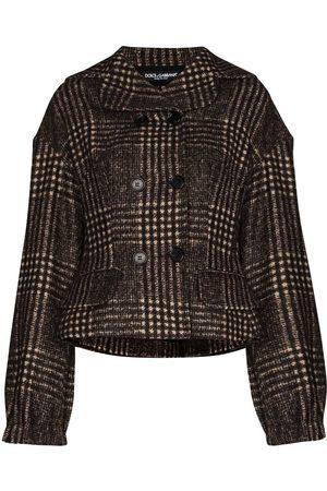 Dolce & Gabbana Double-breasted curve shoulder jacket
