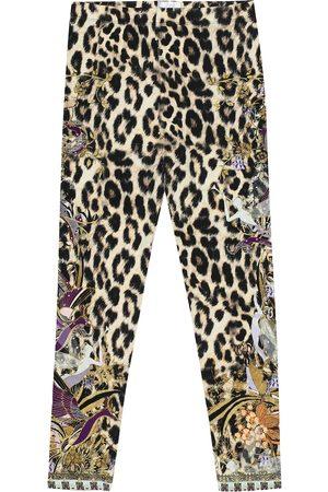 Camilla Embellished printed leggings