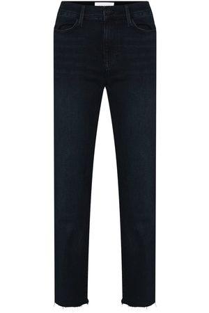 Frame High-Waisted Straight Leg Jeans