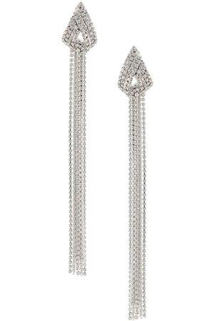 Philipp Plein Draped crystal earrings