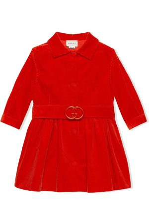 Gucci Girls Trench Coats - Corduroy belted coat