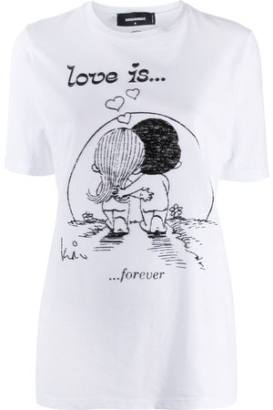 Dsquared2 Love is Forever graphic-print T-shirt