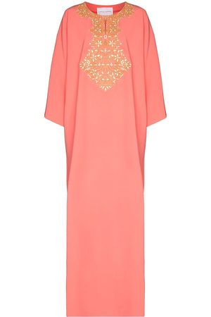 Carolina Herrera Embroidered kaftan dress