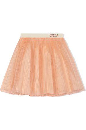 Gucci Maison de L'Amour embroidered skirt