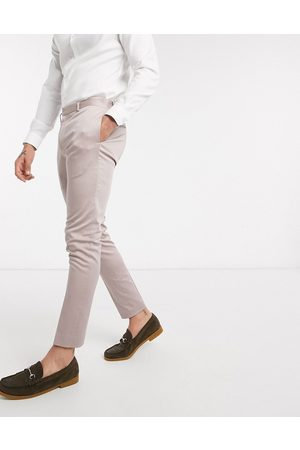 ASOS Wedding super skinny suit trousers in stretch cotton in mink