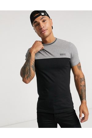 Barbour Colour block t-shirt with tipping detail in