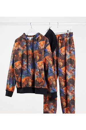 COLLUSION Unisex hoodie in all over print