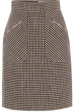 AlexaChung Judy houndstooth miniskirt