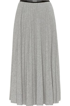 Moncler High-rise jersey midi skirt