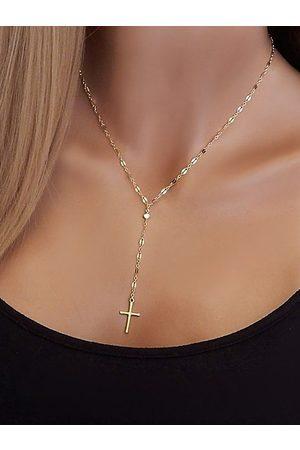 YOINS Cross Vintage Pendant Chain Necklace