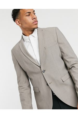 Selected Slim jersey boxy suit jacket in light grey