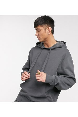 COLLUSION Men Sweatshirts - Oversized hoodie in charcoal