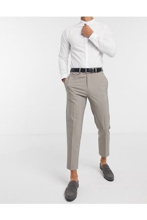 Selected Slim jersey suit trouser in light grey