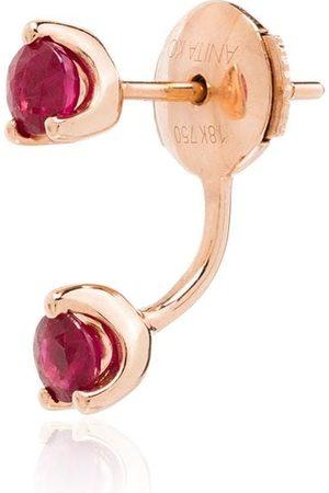Anita 18K rose Orbit ruby earring