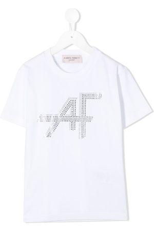 Alberta Ferretti Rhinestone logo print T-shirt