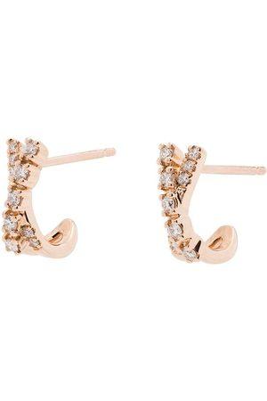 Dana Rebecca Designs 14K rose gold Ava Bea crossover mini huggie earrings