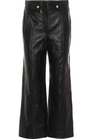 VERONICA BEARD Agee wide-leg leather pants
