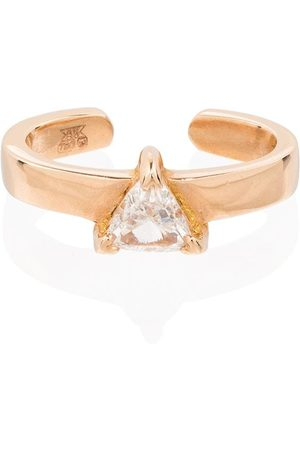Anita 18kt rose gold Trillion diamond ear cuff