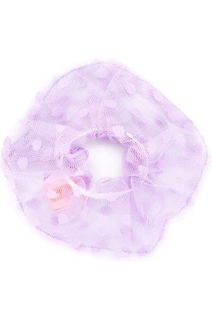 Wauw Capow by Bangbang Polka dot tulle scrunchie