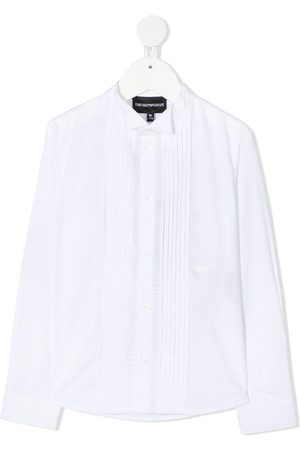 Emporio Armani Long sleeve pleated bib shirt