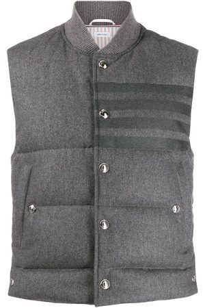 Thom Browne Flannel downfilled 4-bar vest