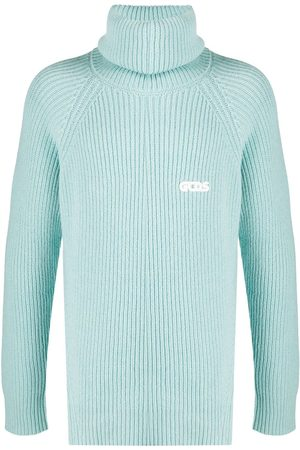 GCDS Ribbed-knit roll neck jumper