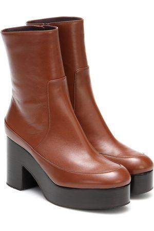 DRIES VAN NOTEN Women Ankle Boots - Leather platform ankle boots