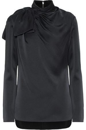 Khaite Francine crêpe blouse