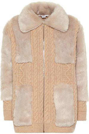 Stella McCartney Virgin wool and faux fur cardigan