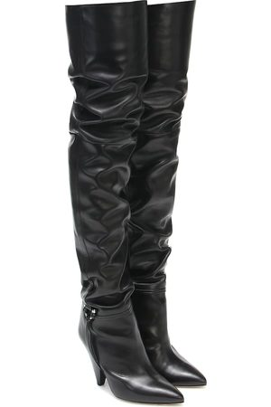 Isabel Marant Lage leather over-the-knee boots