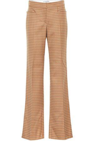 Stella McCartney Claudia high-rise straight wool pants