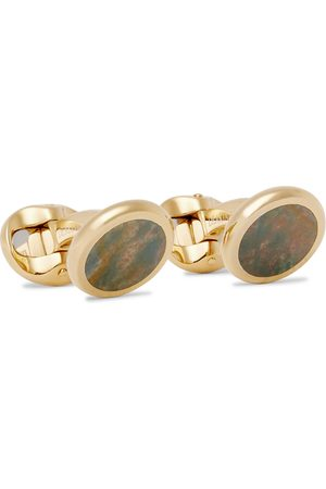 KINGSMAN Men Cufflinks - Deakin & Francis -Plated Heliotrope Cufflinks