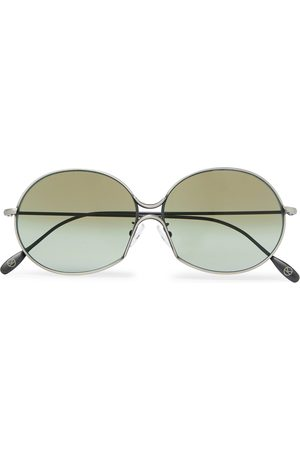 KINGSMAN Cutler and Gross Round-Frame -Tone Metal Sunglasses