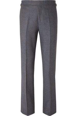 KINGSMAN Men Formal Pants - Conrad Slim-Fit Checked Wool Trousers