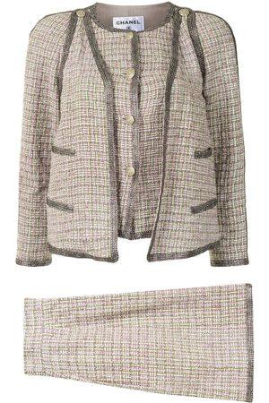 CHANEL Glitter detailing skirt suit
