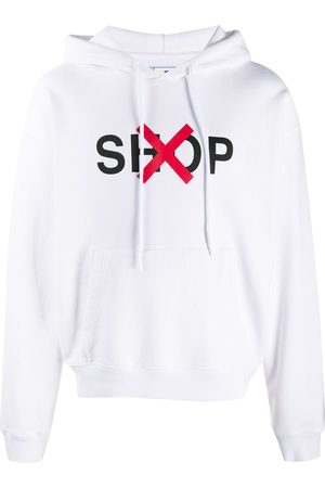 OFF-WHITE Graphic-print cotton hoodie