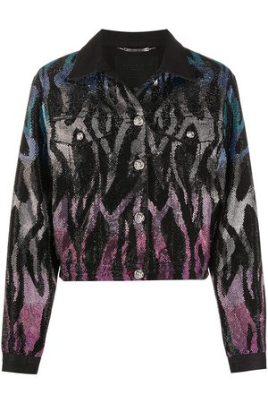 Philipp Plein Embellished zebra pattern jacket