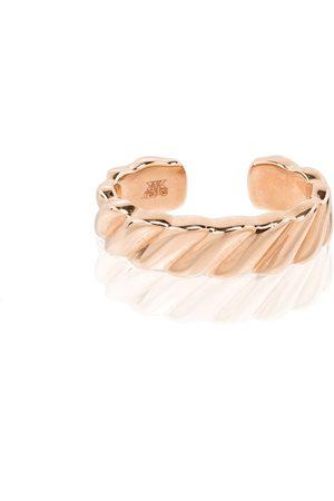 Anita 18K rose Orbit diamond earring