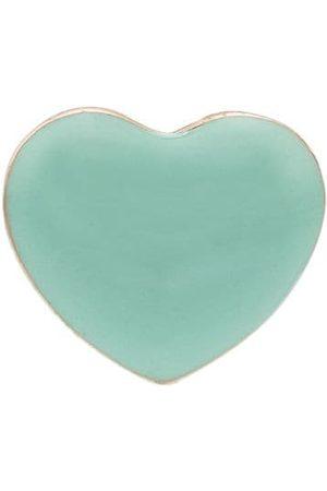 ALISON LOU 14K yellow Mini Puffy heart earring