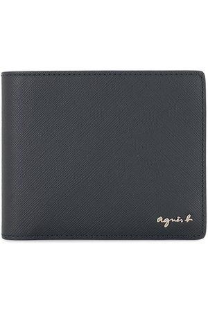 AGNÈS B. Grained-effect bifold wallet