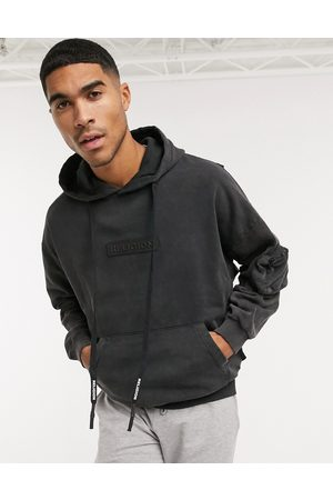 Religion Washed logo hoodie in