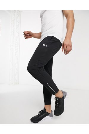 ASOS Icon woven skinny tapered running joggers with reflective zip detail in